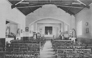 The interior of the old church at Welling Corner.